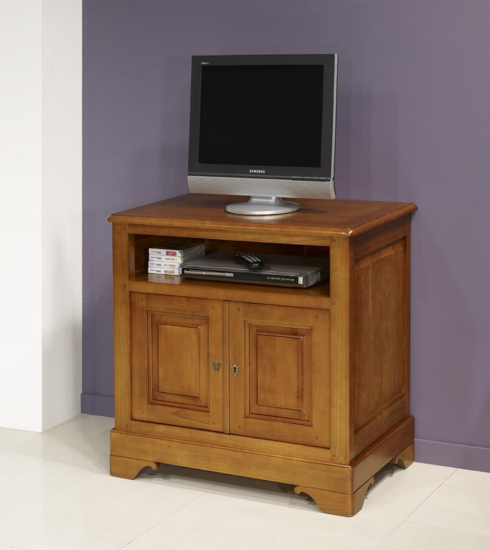 mueble de tv elisa hecho en cerezo macizo estilo louis