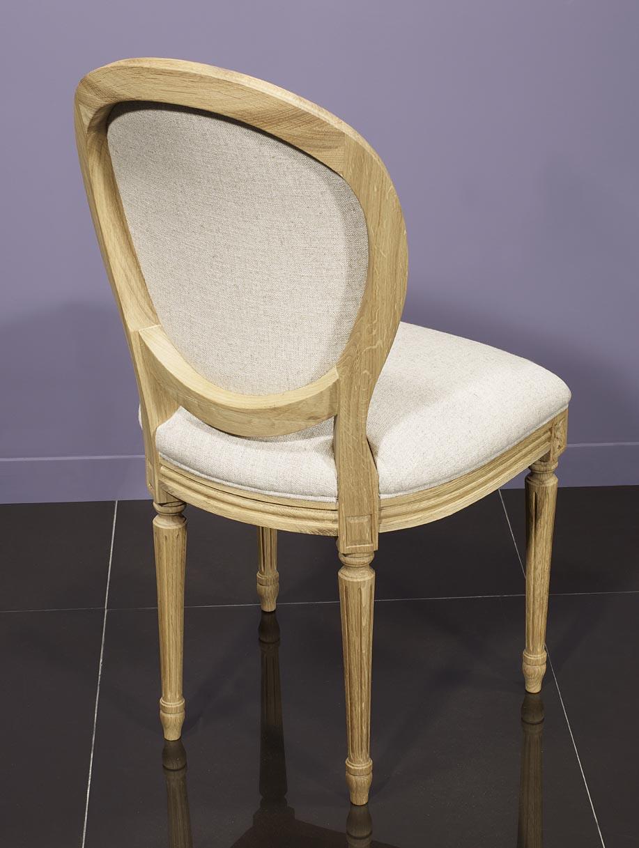 Simon silla de madera de roble s lido estilo luis xvi for Sillas de estilo luis xvi