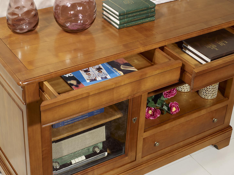 moble de tv 16 9 marianne fet en fusta massissa de cirerer estil louis philippe meuble en merisier. Black Bedroom Furniture Sets. Home Design Ideas