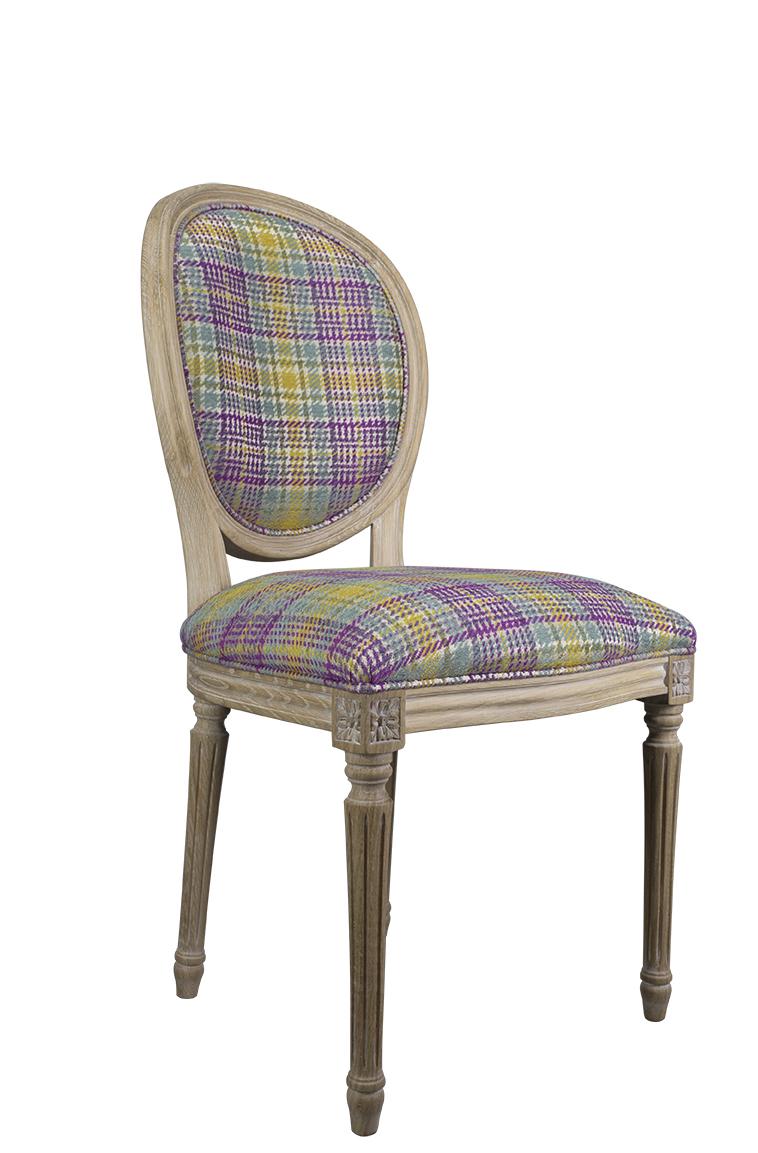 Simon silla de madera de roble s lido estilo luis xvi - Sillas estilo luis xvi ...