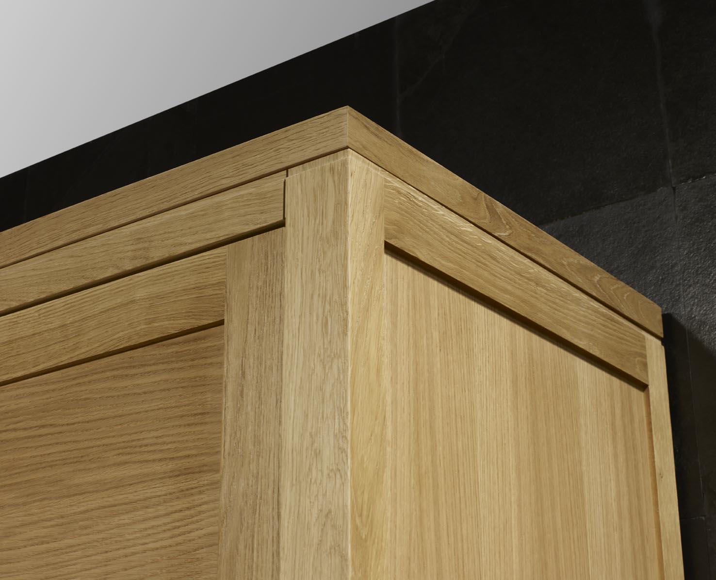 Armario 2 puertas correderas julio hecha en madera de for Puerta de roble macizo castorama