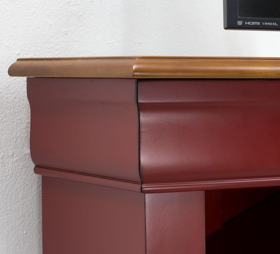 Mueble de esquina de tv con 2 puertas hecho en madera - Mueble para tv con puertas ...