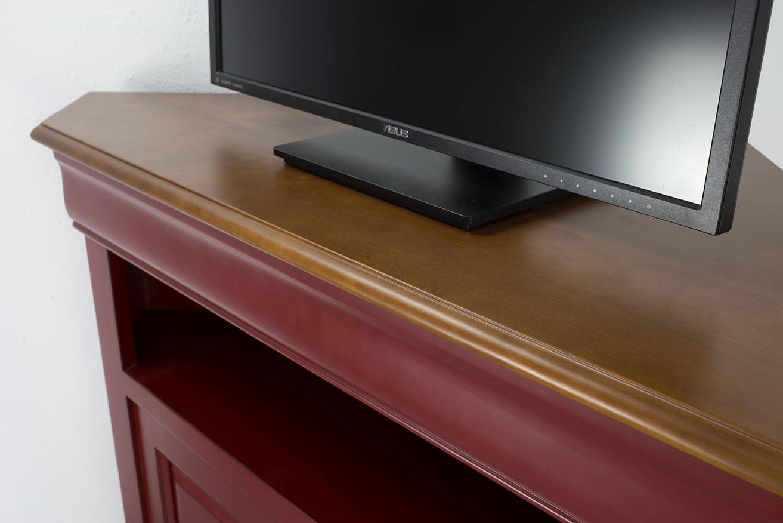 Mueble de esquina de tv con 2 puertas hecho en madera for Muebles para esquinas