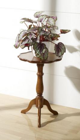 Pedestal Lea  fabricado en madera maciza de cerezo de estilo Louis Philippe
