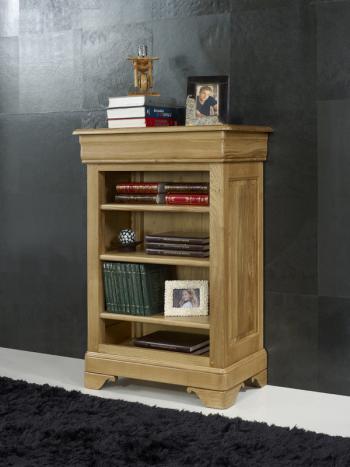 Estantería Librería Sebastien fabricado en madera de roble macizo al estilo Louis Philippe