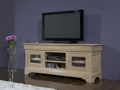 Mueble Tv Jules fabricado en madero de roble macizo en el estilo de Louis Philippe