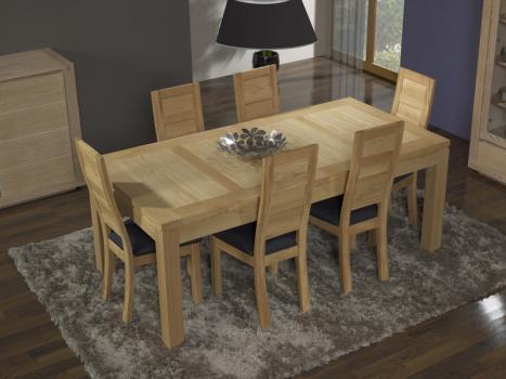 Mesa de comedor rectangular 200X100 ALEXANDRE fabricada en madera de Roble macizo estilo Contemporáneo