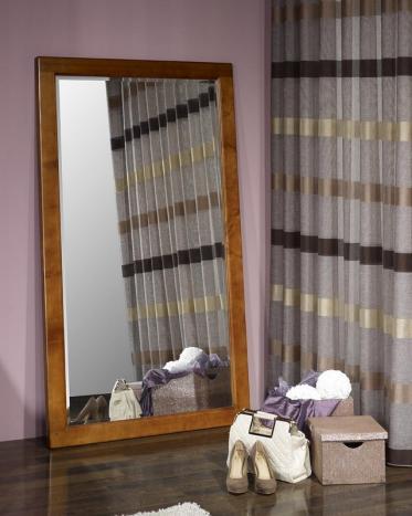 Espejo de cristal biselado 180x100 fabricado en madera de cerezo macizo
