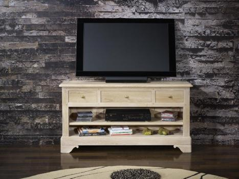 Mueble TV 16/9 Paulo fabricado en madera de Roble macizo al estilo Louis Philippe