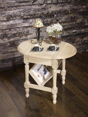Mesa auxiliar Marc-Eric con persianas fabricada en madera de roble macizo en estilo Louis Philippe