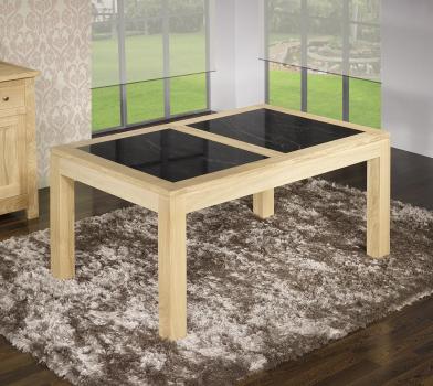 Mesa de comedor rectangular Manoel,fabricada en madera de Roble estilo Contemporáneo 160X100