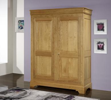 Armario Salomé de 2 puertas Salome fabricado en madera maciza de roble estilo Louis Philippe