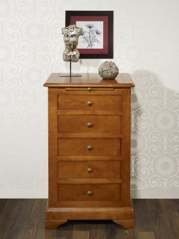 Cajonera fabricada en madera de cerezo macizo al estilo Louis Philippe