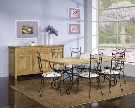 Mesa comedor rectangular 200x100 la bandeja en roble for Mesa comedor roble macizo