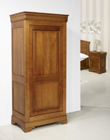 Armario Salomé fabricado en madera de cerezo macizo en estilo Louis Philippe