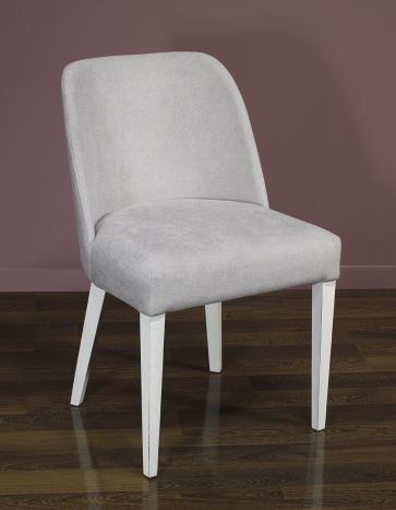 Silla Eduardo, asiento y respaldo tapizados, patas  fabricadas en madera maciza de Fresno estilo contemporáneo