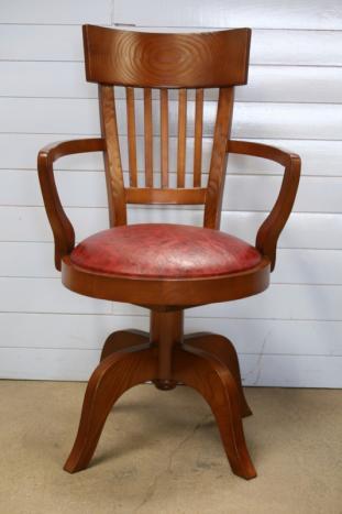 Silla de escritorio Carlos fabricado en madera de haya maciza al estilo Louis Philippe