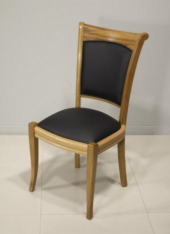 Silla Benjamin fabricada en madera de roble estilo Louis Philippe