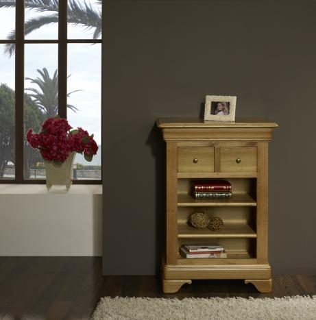 Recibidor Charlotte fabricado en madera de roble macizo al estilo de Louis Philippe