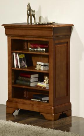Estantería Librería fabricada en madera de cerezo macizo al estilo Louis Philippe