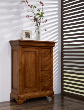 Recibidor Anne-Sophie fabricado en madera  de Cerezo macizo al estilo del Louis Philippe