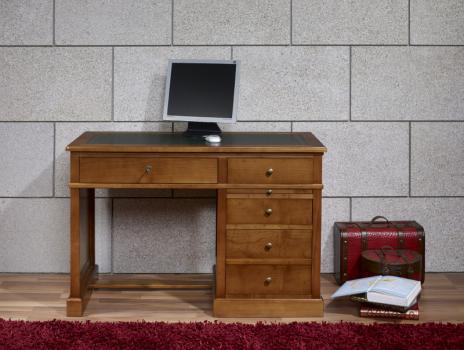 Escritorio Lucie fabricado en madera de cerezo macizo al estilo Louis Philippe