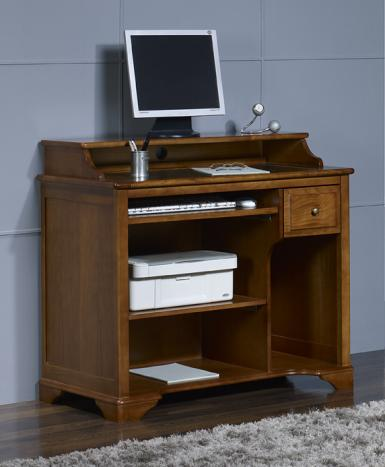 Escritorio Informático Malorie fabicado en madera de cerezo en estilo Louis Philippe