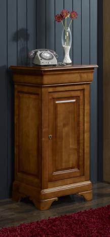 Mueble recibidor Andrea fabricado en madera de cerezo macizo en estilo Louis Philippe