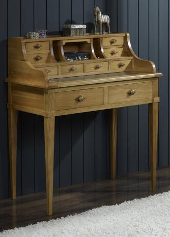 Secretaria estilo francés Juan Luis fabricada en madera de roble macizo estilo Directoire
