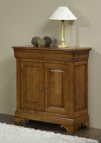 Aparador Albino con 2 puertas fabricado en madera de Cerezo Macizo al estilo Louis Philippe