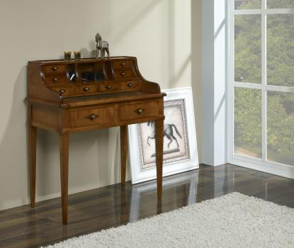 Secretaria estilo Francés Anna fabricada en madera de cerezo maciza en estilo Directoire