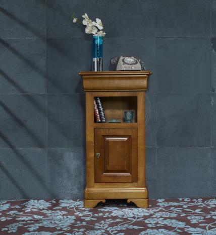 Mueble recibidor Adelaida fabricado en madera de cerezo macizo en estilo Louis Philippe