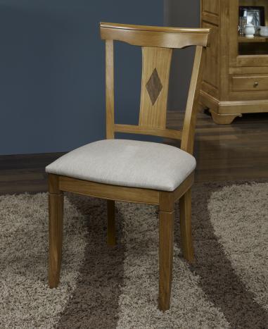Silla Arthur fabricada en madera de macizo estilo Louis Philippe asiento de tela Lin