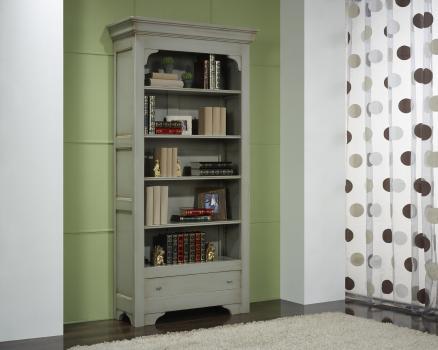 Estantería librería fabricada en madera maciza de cerezo en estilo Louis Philippe