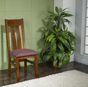 Silla Annie fabricada en madera de cerezo macizo en estilo contemporáneo asiento tejido Lin