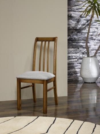 Silla Clemente fabricada en madera de roble macizo estilo contemporáneo