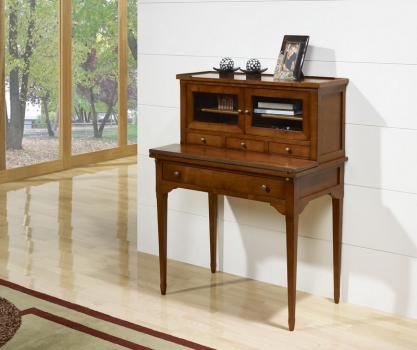 Secretaria estilo Francés Laure fabricada en madera de cerezo macizo en estilo Directoire.
