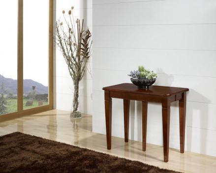 Consola extensible Céline fabricada en madera de cerezo macizo al estilo Louis XVI