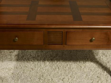 Mesa de centro Agathe fabricadas en madera de cerezo macizo al estilo Louis Philippe