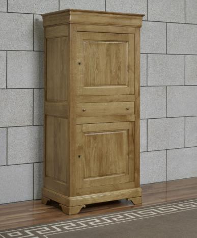 Armario Bruno fabricado en madera de Roble macizo al estilo Louis Philippe