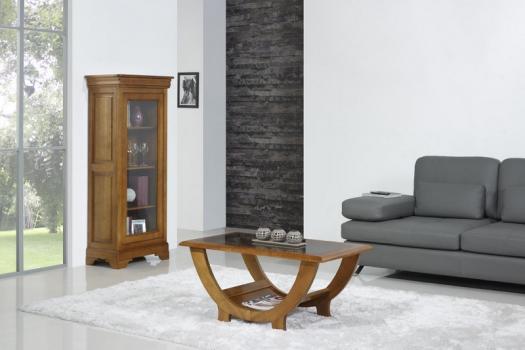 Mesa de centro Nicolas fabricada en madera de cerezo macizo en estilo contemporáneo