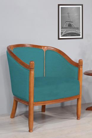 Sillón Caroline Cabriolet de madera de haya maciza de estilo Louis Philippe