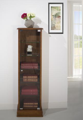Armario vitrina fabricada en madera de Roble macizo en estilo Louis Philippe