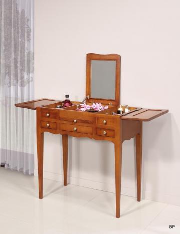 Tocador fabricado en madera de Cerezo macizo estilo Louis Philippe