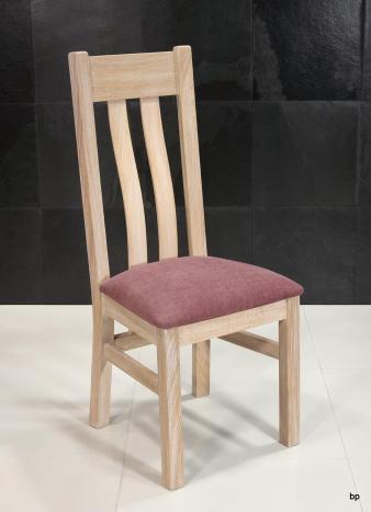 Silla Leonor fabricada en madera de Roble macizo asiento tejido Aldeco