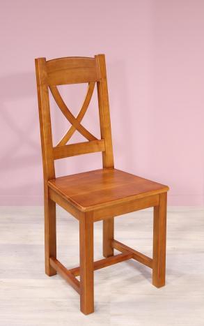 Silla Cecilia fabricada en madera de Cerezo macizo estilo rústico