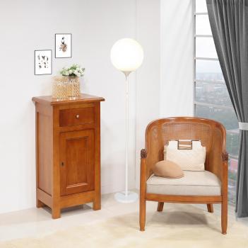 Recibidor fabricado en madera maciza de cerezo en estilo rústico