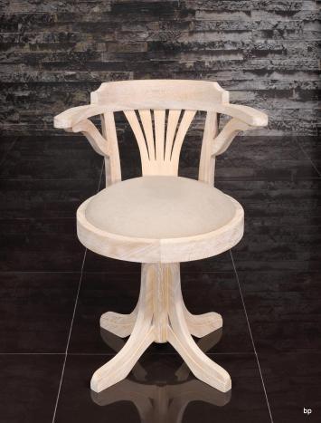 Silla de escritorio giratoria Marc fabricada en madera de roble macizo