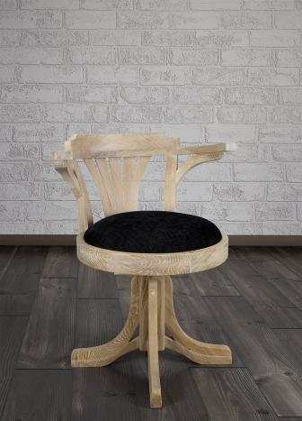Silla de escritorio fabricado en madera de roble macizo al estilo Louis Philippe  Acabado cepillado blanqueado