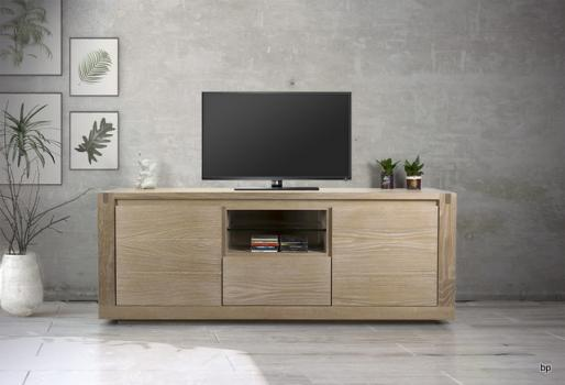 MV12 Mueble TV Matias fabricado en Roble macizo estilo contemporáneo
